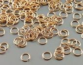 10 grams rose gold plated brass 5mm 23 gauge Jump rings jumprings, jewelry making findings B005BRG-235 (bright rose gold, 5mm, 10 grams)