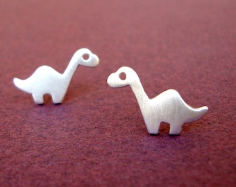 Sterling Silver Dino Studs Dinosaur Earrings Brontosaurus Studs Dinosaur Post Earrings Teen Jewelry Kids Jewelry