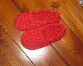 Big Girls Hot Pink Cabin Slippers