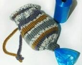 Hand Knit Pet Waste Bag Holder or Dispenser 028
