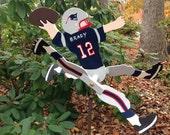 New England Patriots Tom Brady  football player whirligig