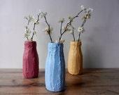 Trio of Bottle Vases  / set of Vases / Instant collection /  set of 3  / sky blue / golden yellow / raspberry vase
