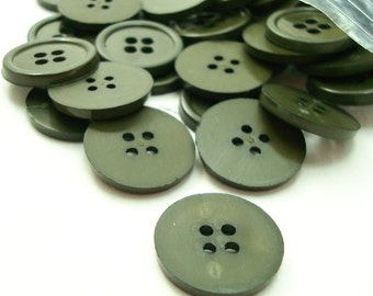 """5/8"""" (16 mm) buttons, Army Green, Qty 60"""
