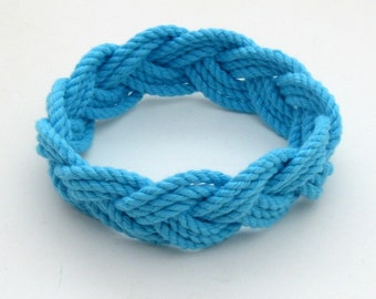 Rope Bracelet in Turquoise Cotton