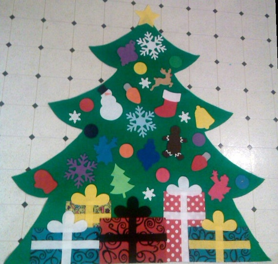 felt christmas tree kids felt tree wall by greenfeltdesigns. Black Bedroom Furniture Sets. Home Design Ideas