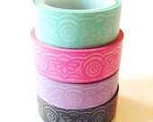 Lace Washi Tape Mint Pink Lilac Black Lace Wedding Scrapbooking