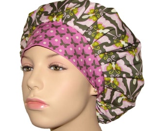 Lottie Da Papillon Butterflies-Scrub Caps-Scrub Hats-ScrubHeads-Bouffant Scrub Hat-Womens Scrub Hat-Butterfly Scrub Hat-Anesthesia Scrub Hat