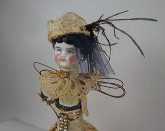 "Angel Assemblage Doll ""April Showers"" Assemblage Art Doll, Fairy Doll"
