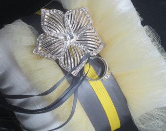 Silk Ring Bearer Pillow - Madam Butterfleur