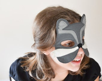 Wolf Kids Mask Children Felt Carnival, Costume Accessory, Dress up, Pretend Play Toy,  Boys, Girls, Toddlers