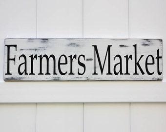 Farmers Market Sign // Hand Painted Sign // Rustic Modern Farm House // Wooden Sign Wall Art // Farmhouse Artwork // Farmhouse Decor