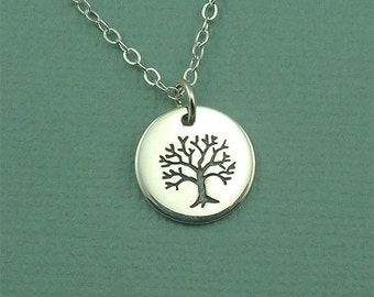 Petite Tree of Life Necklace - sterling silver necklace - tree necklace - tree jewelry - tree pendant - popular necklaces