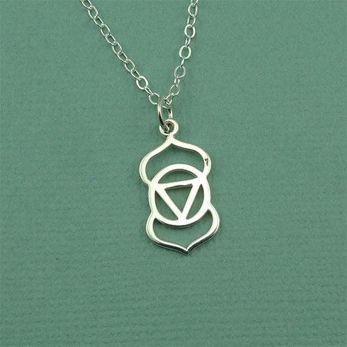third eye chakra necklace sterling silver necklace third