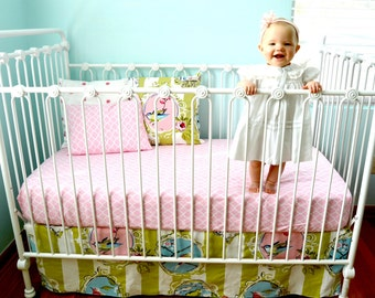 Love Birds Shabby Chic Crib Bedding