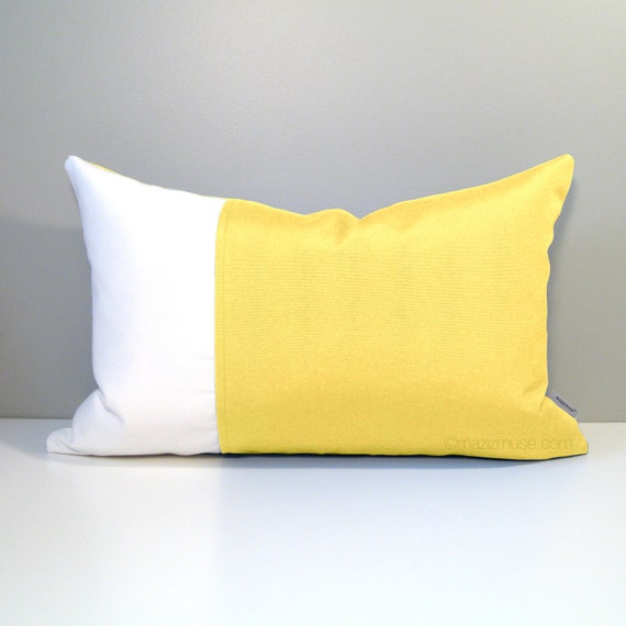 Modern Yellow Pillow : Pastel Yellow Pillow Cover Modern Home & Garden Decor by Mazizmuse
