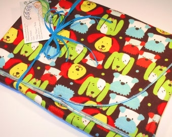 Extra Large - Brites Puppy Face Flannel Receiving Blanket