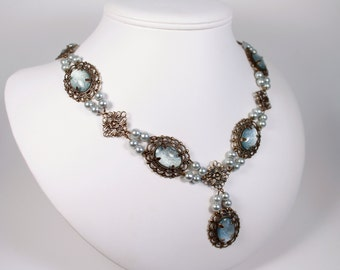 Special Edition Desire Pearl Tudor Necklace Renaissance Medieval Costume Game of Thrones Jewelry