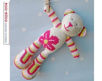 Flower Bear, toy knitting pattern