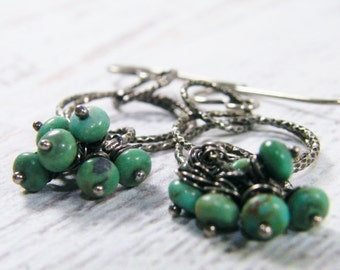 dangle turquoise earrings