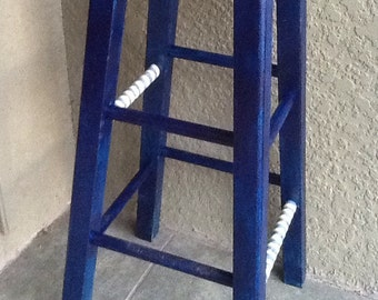 "29"" bar stool in blues"