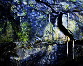 Spooky Cave Rock Colours and Textures - Natural Abstract Fine Art Photograph - Gallery Quality Wall Art in Various Sizes and Finishes