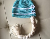 Casual Elsa Hair hat with braid Frozen Hat ALL Sizes from Newborn to Adult
