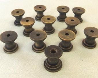 Lot of 24 DIY Knob Bases Antique Brass Make your Own Drawer Pulls