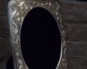 Vintage - Silver Frame - Easel Back - Silver Plated - Opens to Photo Album - Vintage Beauty - Elegant Home Decor