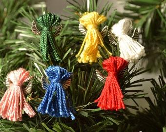 Mini Angel Christmas Ornaments: Beaded Tassel Angel