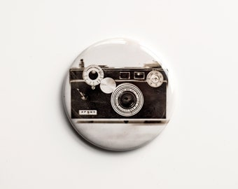 "The Argus C3 (1939–1966) - Sepia Photograph of a Vintage Camera - 2.25"" Magnet"