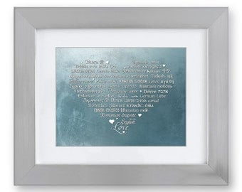 LOVE Languages Art Prints - 8.5 x 11 - Enchanted First Frost