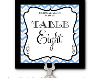 Table Number Cards, Food Label Cards, Buffet Table Cards, Chevron Stripes, Wedding, Bridal, Baby Shower, Birthday, Lots of Colors