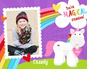 You're MAGICAL - unicorn - Kids Valentine Card - wallet size or 4x6