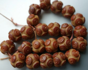 Victorian Tagua Beads One Pair