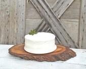Rustic Tree Slice Cake Stand Wood Wedding Cake Stand