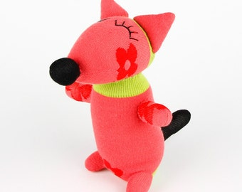 Free Shipping Handmade Sock Fox Stuffed Animal Doll Baby Toys