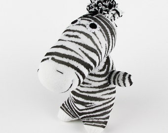 New Year Gift Christmas Gift Handmade Sock Zebra Stuffed Animal Doll Baby Toys