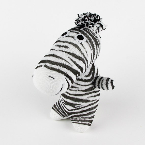 New Year Gift Christmas Gift Handmade Sock Zebra Stuffed Animal Doll Baby Toys