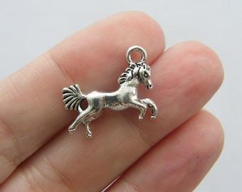 6 Horse charms tibetan silver A601