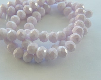 72 Light pink faceted 8mm glass beads B162