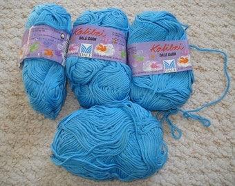 Bright Aqua 100% Cotton Kolibri Dale of Norway (DaleGarn) Sport Weight Yarn REDUCED