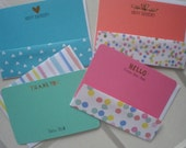 Multicolored Candy Color Flat with multicolored envelope flap Eight  for Five