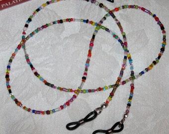 Multi-color Rainbow Fun - Funky Beaded Eyeglass Chain Holder
