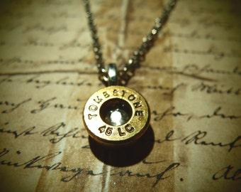 Tombstone colt 45 bullet casing necklace Wyatt Earp old west western jewelry wild west