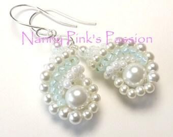 Tutorial ~ Island Pearl Dutch Spiral Reversible Shell Earrings