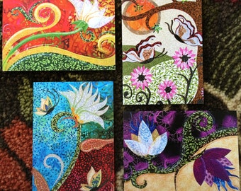 Assorted Floral - Framable greeting cards