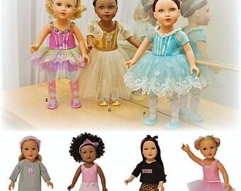 18 inch Doll Ballerina Tutu Pattern, 18 inch Doll Dance Costumes Pattern, Simplicity Pattern 1243