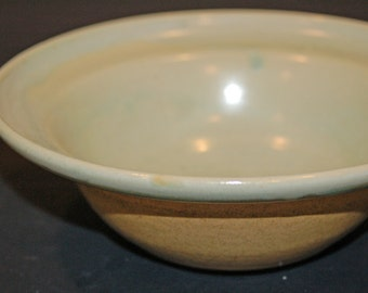 Ceramics and Pottery Bowl, Green and Gold, Pasta Bowl, Fruit Bowl, Ceramic Bowl