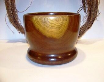 Vintage Solid Walnut Wooden Nut Bowl Serving Bowl Home Decor