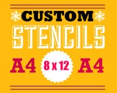 custom laser cut stencils from your own artwork 8 x 12 inches or less